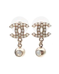 Chanel - Metallic Earrings - Lyst