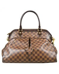 Louis Vuitton - Brown Pre-owned Trevi Leather Handbag - Lyst