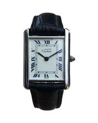 Cartier - Metallic Tank Silver Watch for Men - Lyst
