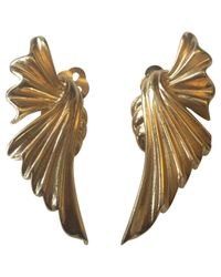 Givenchy - Metallic Pre-owned Gold Metal Earrings - Lyst