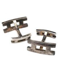 Hermès - Metallic Pre-owned Silver Cufflinks for Men - Lyst
