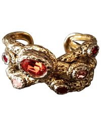 Roberto Cavalli - Metallic Pre-owned Gold Metal Bracelet - Lyst