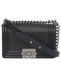 Chanel - Black Boy Leather Handbag - Lyst