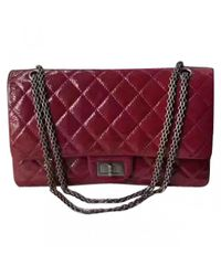 Chanel - Red Pre-owned 2.55 Patent Leather Handbag - Lyst