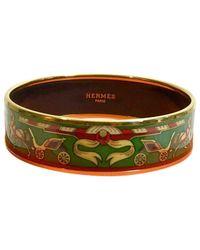 Hermès - Pre-owned Bracelet Email Green Metal Bracelets - Lyst