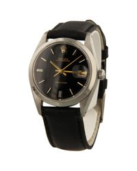 Rolex - Black Oyster Perpetual Watch for Men - Lyst