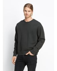 Vince - Gray Seamed Crew for Men - Lyst
