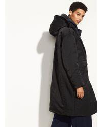 Vince - Black Mixed Media Puffer Coat - Lyst
