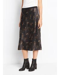 Vince - Multicolor Silk A-line Skirt - Lyst