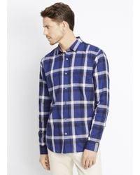 VINCE | Blue Melrose Graphic Plaid Button Up for Men | Lyst