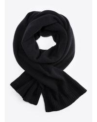 Vince - Black Boiled Cashmere Scarf for Men - Lyst
