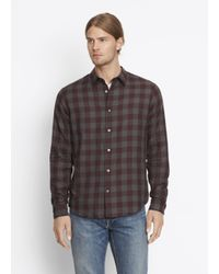 VINCE | Red Melrose Button Up for Men | Lyst