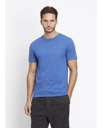 VINCE | Blue Crew Neck Tee for Men | Lyst