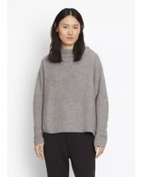 Vince | Gray Boiled Cashmere Funnel Neck | Lyst