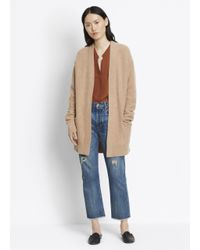 VINCE | Natural Boiled Cashmere Robe Cardigan | Lyst