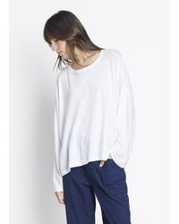 VINCE | White Relaxed Long Sleeve Tee | Lyst