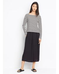 Vince | Black Crossover Pull-on Culotte | Lyst