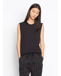VINCE | Black Shirttail Muscle Tank | Lyst