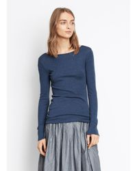 VINCE | Blue Shirttail Long Sleeve Tee | Lyst