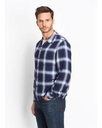 Vince - Blue Ombré Plaid Button Up for Men - Lyst