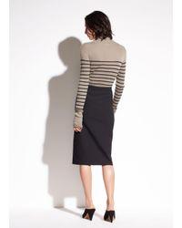 Vince - Black Stretch-ponte Pencil Skirt - Lyst