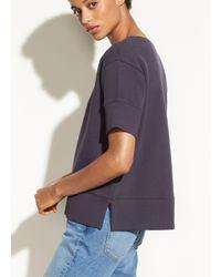 Vince - Multicolor Short Sleeve Crop Sweatshirt - Lyst