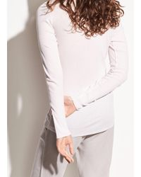 Vince Multicolor Ribbed Long Sleeve Pima Cotton Crew