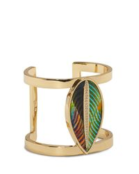 Vince Camuto - Metallic Feather T-bar Cuff - Lyst