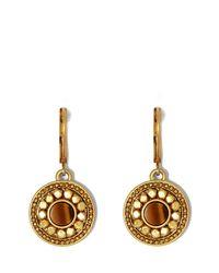 Vince Camuto - Metallic Faux Horn Medallion Earrings - Lyst