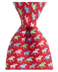 Vineyard Vines - Red Horse Silks Tie for Men - Lyst