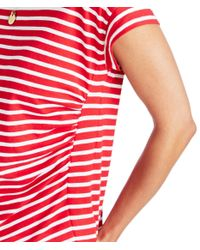 Vineyard Vines - Red Short-sleeve Nautical Stripe Tee - Lyst