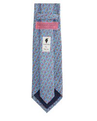 Vineyard Vines - Blue Fall Leaves Silk Tie for Men - Lyst