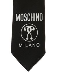Moschino - Black Logo-printed Tie for Men - Lyst