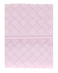 Bottega Veneta - Pink 'intrecciato' Wallet - Lyst