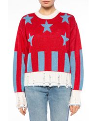 MSGM - Red Raw-trimmed Sweater - Lyst