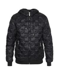 Versace Jeans - Black Quilted Jacket for Men - Lyst