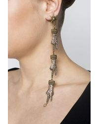 Gucci - Metallic Hand Motif Clip-on Earrings - Lyst