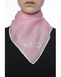 KENZO - Pink Embroidered Tiger Shawl - Lyst