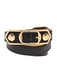 Balenciaga - Black Triple Bracelet - Lyst