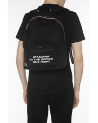 Dior - Black Backpack With Metal Logo for Men - Lyst