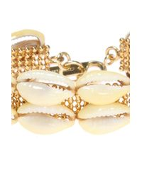 Isabel Marant - Metallic Bracelet With Shells - Lyst