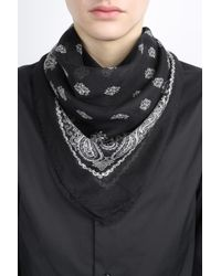 Saint Laurent - Black Pattern Scarf for Men - Lyst