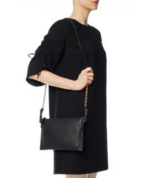 Burberry - Black Logo-embossed Shoulder Bag - Lyst