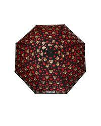 Moschino - Black Bear And Heart Print Umbrella - Lyst