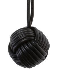 Balenciaga - Black Braided Key Ring - Lyst
