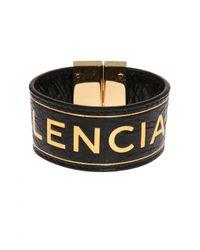 Balenciaga - Black Logo-embossed Bracelet - Lyst