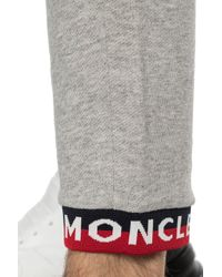 Moncler Gray Branded Sweatpants for men