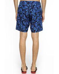 Versace - Blue Patterned Swim Trunks for Men - Lyst