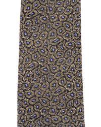 Lanvin - Black Patterned Tie for Men - Lyst