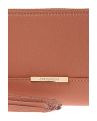 See By Chloé - Pink Wallet With Tassel - Lyst